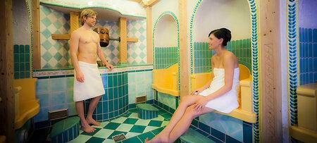 Sauna im Wellnessbereich des Hotels